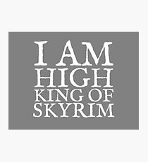 High King of Skyrim Photographic Print