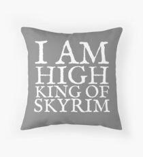 High King of Skyrim Throw Pillow