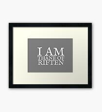 Thane of Riften Framed Print