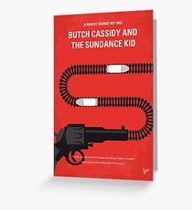 No585- Butch Cassidy and the Sundance Kid minimal movie poster Greeting Card