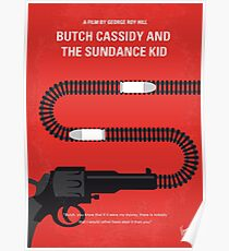 No585- Butch Cassidy and the Sundance Kid minimal movie poster Poster