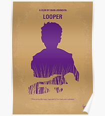 No636- Looper minimal movie poster Poster