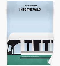 No677- Into the Wild minimal movie poster Poster