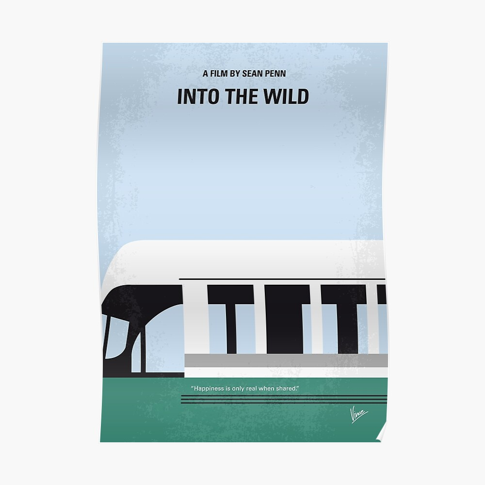 No677- Into the Wild minimales Filmplakat Poster