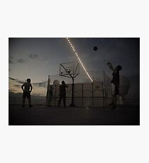 Great Game of Basketball Photographic Print