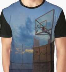 Basketball Court Graphic T-Shirt
