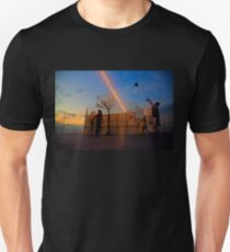 Basketball Game by the Sunset T-Shirt