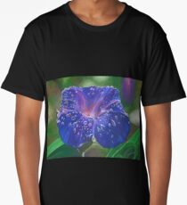 Deep Purple Morning Glory With Morning Dew Long T-Shirt