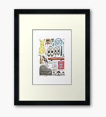 La La Land Illustration Jazz Saxophone Music Musical  Framed Print