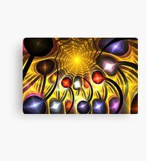 Yellow Spike Spiral Canvas Print