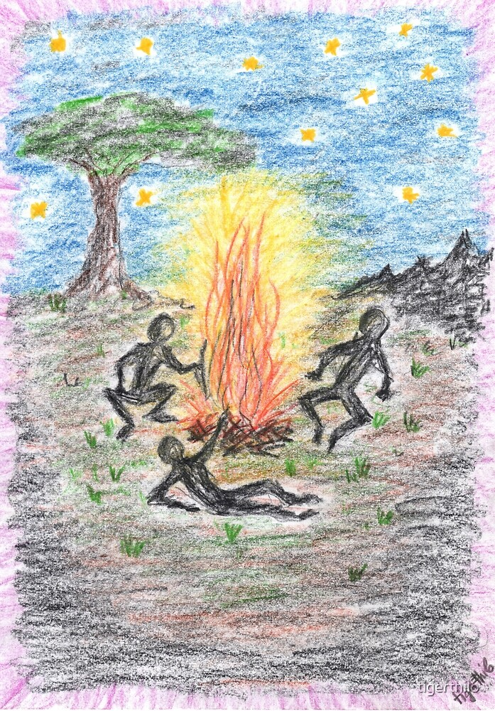 2010 - Nachts Am Lagerfeuer by tigerthilo