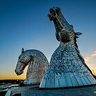 Kelpies-Sunset by Thomas Gelder
