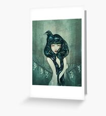 'Oracle of the sodden raven' Greeting Card
