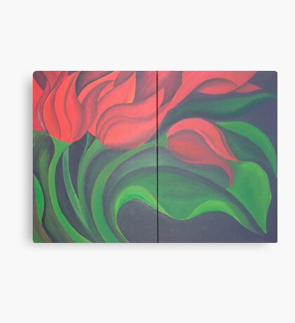 Red Tulip Diptych Canvas Print