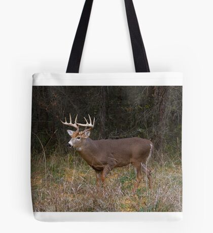 On the hunt - White-tailed deer Buck Tote Bag