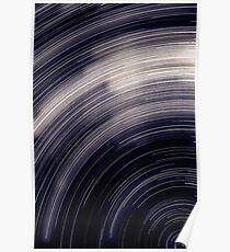 Star trails & south celestial pole Poster