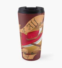 Red Mage Logo design Travel Mug