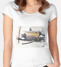 Snow 1 Women's Fitted Scoop T-Shirt