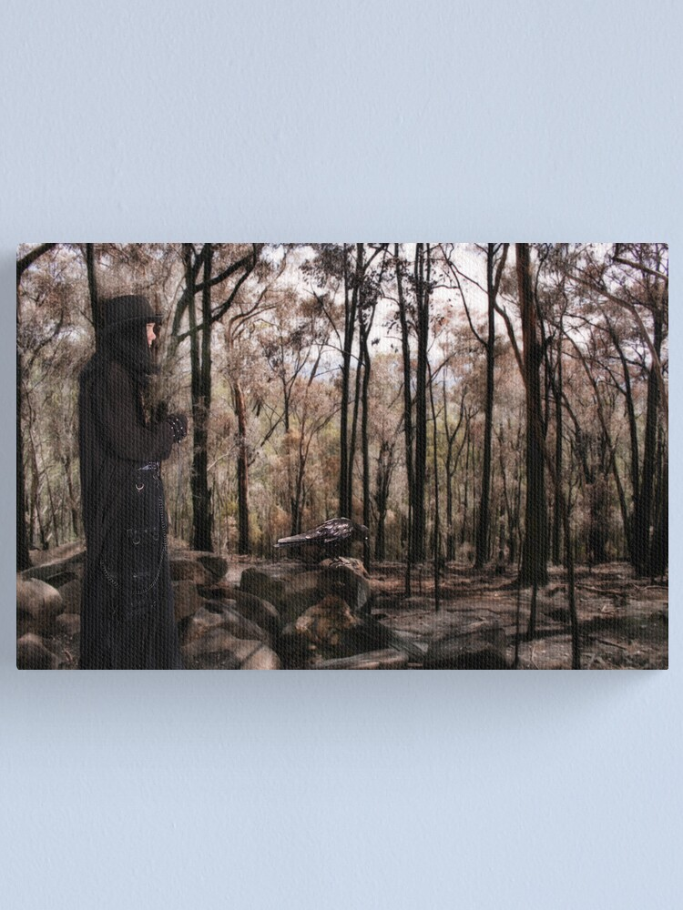 Alternate view of A walk in the Blackened forest Canvas Print