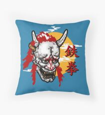 Iron Fist Ninja Throw Pillow