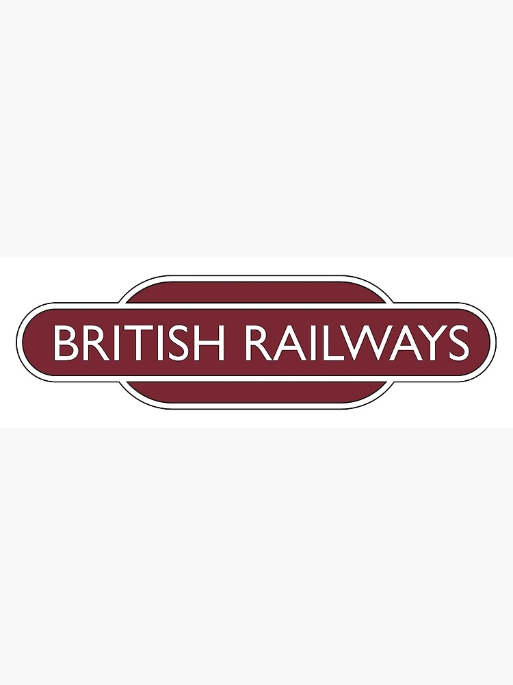 BRITISH RAILWAYS, RAILWAY, BR, Enthusiast, SIGN, Flying Sausage, format,  Train Spotter | Greeting Card