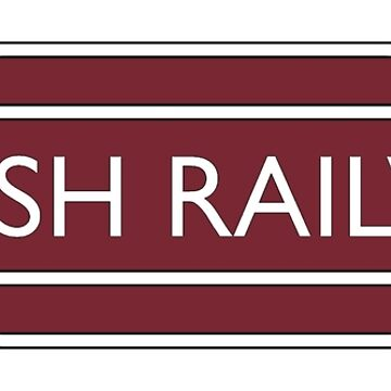 BRITISH RAILWAYS, RAILWAY,  BR, Enthusiast, SIGN, Flying Sausage, format, Train Spotter by TOMSREDBUBBLE