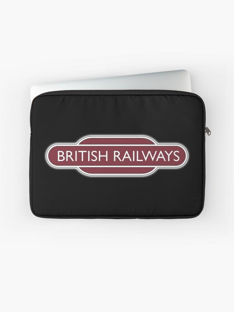 BRITISH RAILWAYS, RAILWAY, BR, Enthusiast, SIGN, Flying Sausage, format,  Train Spotter | Laptop Sleeve