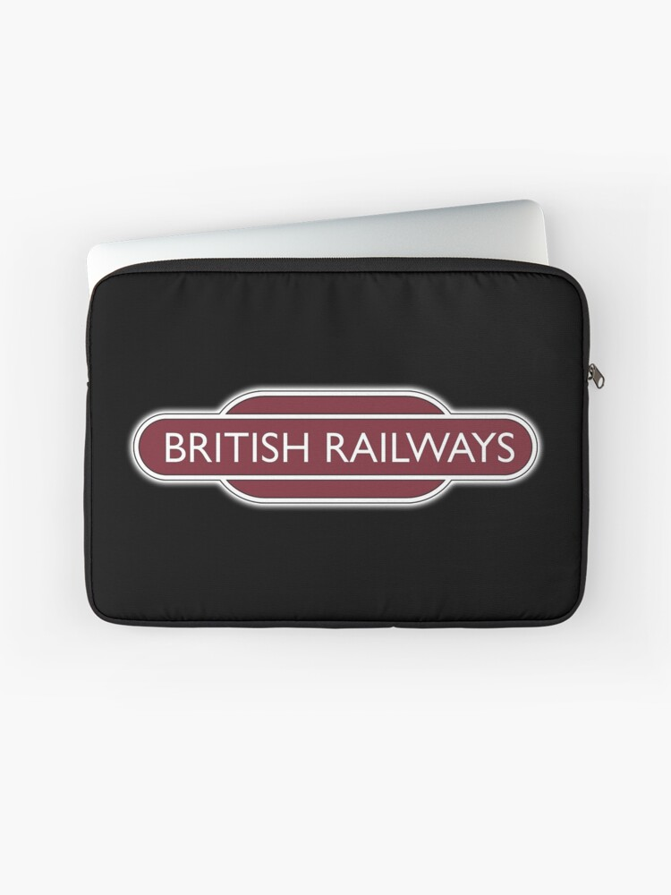 BRITISH RAILWAYS, RAILWAY, BR, Enthusiast, SIGN, Flying Sausage, format,  Train Spotter | Laptop Sleeve
