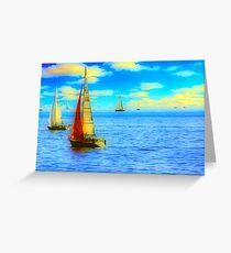 Boats 1. Greeting Card