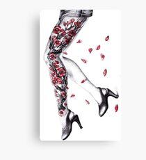 Sakura Flowers  - ballpoint hand drawing on paper Canvas Print