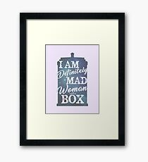 A Mad Woman With a Box Framed Print