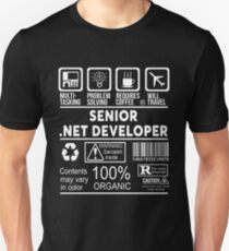 SENIOR .NET DEVELOPER - NICE DESIGN 2017 T-Shirt