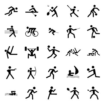 Sports Symbols, Sport Icons, Sporting Symbol by TOMSREDBUBBLE