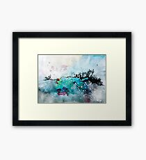Dreamy cloudscape painting Framed Print