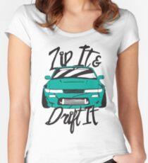 Zip It & Drift It - Greenish 240SX Women's Fitted Scoop T-Shirt