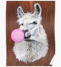 Bubblegum Dolly; the Llama Poster
