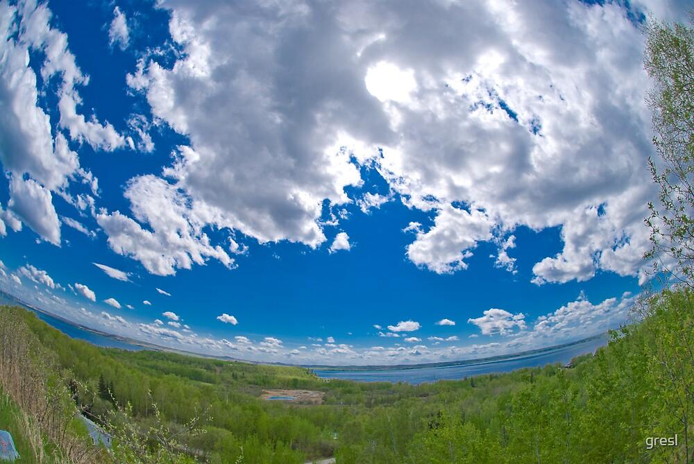 Big Blue Alberta Sky by gresl