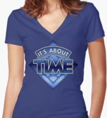 Doctor Who - It's About Time Women's Fitted V-Neck T-Shirt