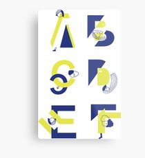 - A B C D E F - Metal Print