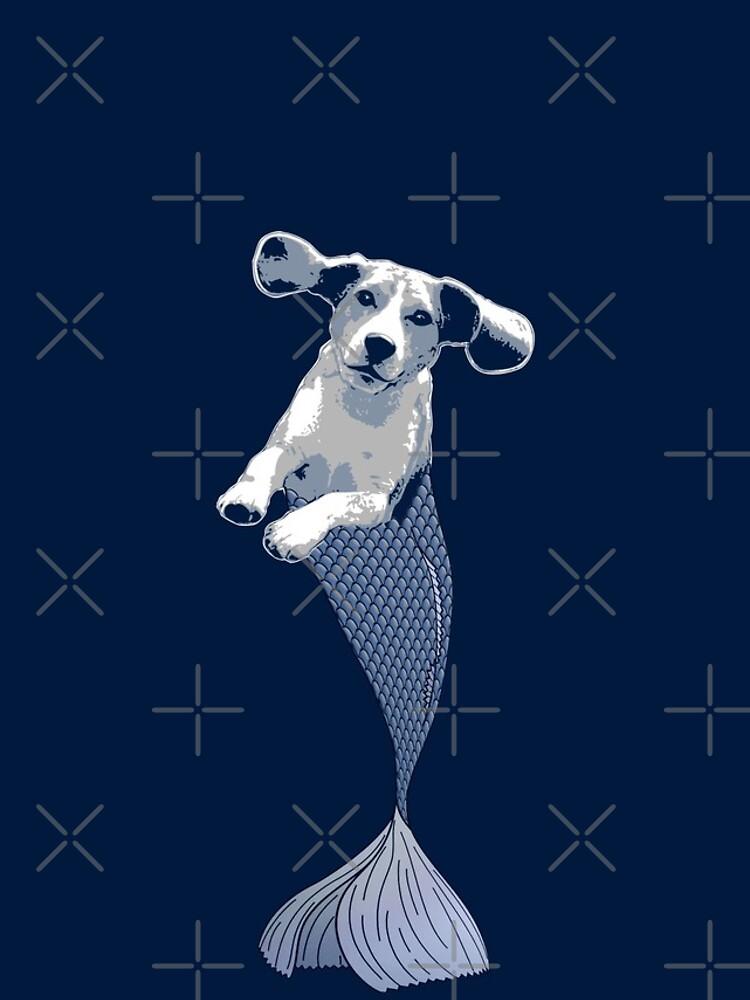 Bailey the Beagle Merpup by LittleMissTyne