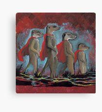 Super Hero Meerkats Assemble! Canvas Print