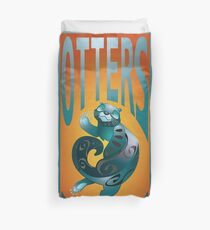 BEARS TOTEM- the otter Duvet Cover