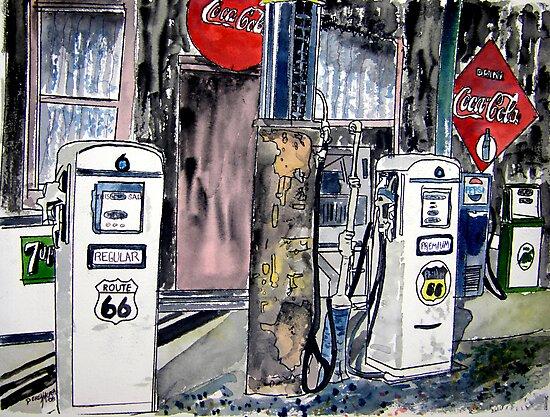 route 66 gas station by derekmccrea