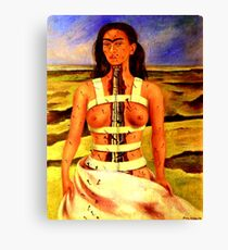 TRIBUTE TO FRIDA KAHLO, by E. Giupponi Canvas Print