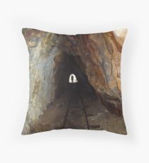 Goldmining tunnel - Karangahake Throw Pillow
