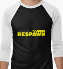 Press A To Respawn Men's Baseball ¾ T-Shirt