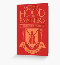 Brotherhood Without Banners Greeting Card