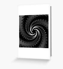 Dark Vortex Fractal Greeting Card