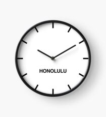 Honolulu Time Zone Newsroom Wall Clock Clock