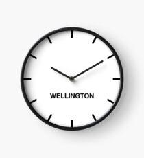 Newsroom Wall Clock Wellington Time Zone Clock